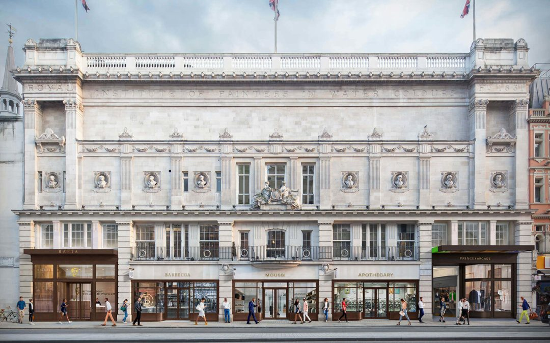 Piccadilly's Grade II listed Princes House gets a full refurbishment.