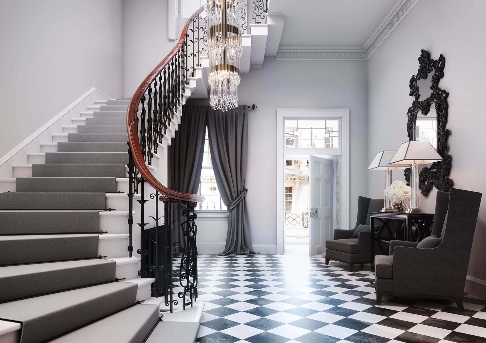 Mayfair Mansion – 'Britain's most expensive fixer-upper' architectural visualisation